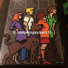 Scooby-Doo perler beads by  samplesgeekart