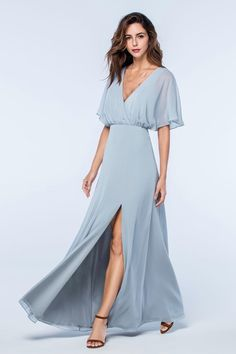 Powder blue bridesmaid dress