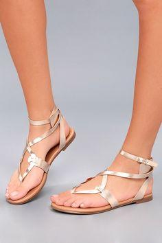 a91a057d62af Boho Babe Champagne Gold Thong Sandals