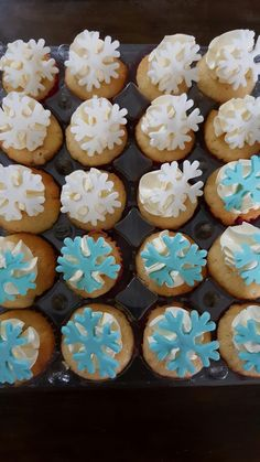 Mini frozen cupcakes