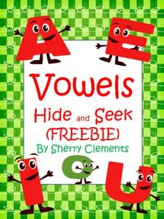 Vowels Hide and Seek (Freebie) from Dr. Clements' Kindergarten on TeachersNotebook.com -  (7 pages)  - Vowels Hide and Seek (Freebie) - Students find each vowel and color according to directions. A bingo marker/dabber could also be used to find the vowels.