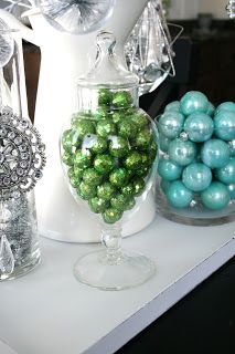 Blue, Green, White and Silver Christmas Decorating Ideas @ House of Smith