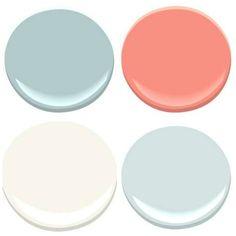 Bathroom colors   OCEAN AIR, CORAL GABLES, SEAFOAM, MOUNTAIN PEAK WHITE (Benjamin Moore paints)