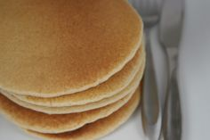 Checkout this recipe for Fluffy Gluten Free Pancakes. Added a tablespoon of splenda to the batter. Pretty good!