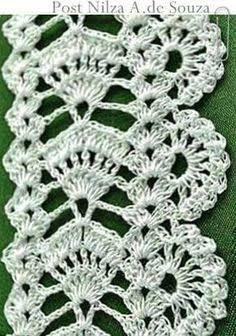 Resultado de imagem para entremeios crochet MILLE A MINUTE #crochetedgings