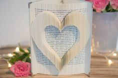 Valentines Day Book, Valentine Gifts, Book Corners, Book Folding, Own Home, Book Art, Birthday Gifts, This Book, Etsy Shop