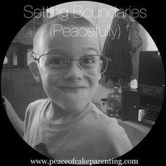Learn how to set peaceful boundaries! ✌️ www.peaceofcakeparenting.com