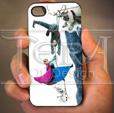 Funny Disney Anna, Kristoff, Olaf Frozen design for iPhone 4/4s, iPhone 5, iPhone 5s, iPhone 5c, Samsung Galaxy S3, Samsung Galaxy S4 Case