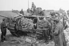 Destroyed B1 bis tank
