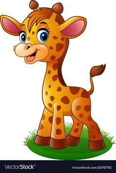 Cartoon Images Of Baby Giraffe - Cartoon Baby Giraffe Royalty Cartoon Giraffe, Cute Cartoon Animals, Baby Cartoon, Cute Baby Animals, Wild Animals, Cartoon Images, Cartoon Drawings, Cartoon Art, Cute Drawings