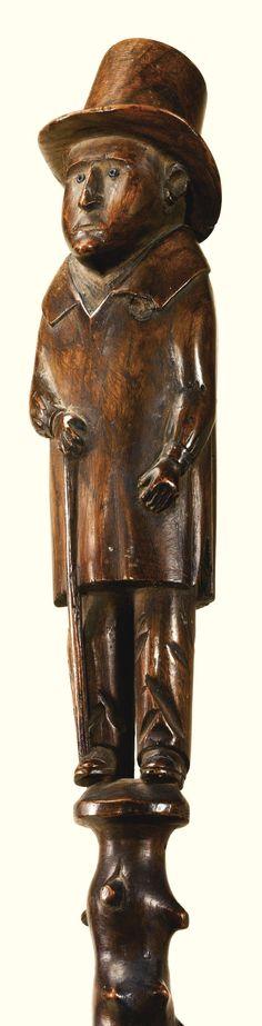 Ship's Captain Cane from Sotheby's auction of Ralph O. Esmerian's folk art collection