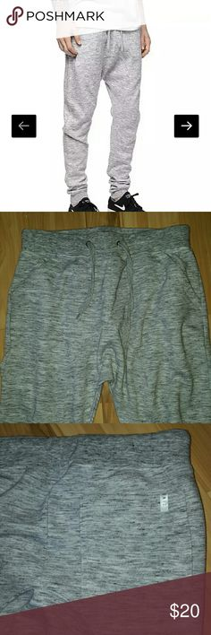 """🔹Host Pick!🔹Joggers by Zine [Zumiez] Joggers/sweatpants   Cover space dye knit jogger pants from Zine. Slim fit through the lower legs with gusseted drop crotch. 2 front hand pockets with zipper closure. Single back pocket with Zine brand tag. Elastic waistband and ankle cuffs. Adjustable drawstring at waist for a custom fit.  Great condition!  Flat lay measurements: Waist: 15"""" (would stretch another inch) Total length: 39"""" Zine Pants Sweatpants & Joggers"""