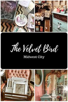 When it's time to redecorate, look no further than The Velvet Bird to satisfy your home decor and furnishing needs. Bring your truck to Midwest City, Oklahoma to load up on antique furniture, frames and vintage pieces that are sure to spruce up your living space.