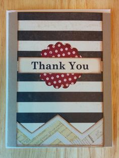 Say Thank You with Chevron and Stripes by Cindysnoopy on Etsy, $3.50