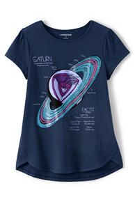 Girls Aline Graphic Knit Tee
