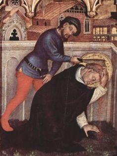 """ordopraedicatorum: """"Martyrdom of Saint Peter of Verona """" Medieval Life, Medieval Art, Italian Painters, Italian Artist, Catholic Art, Religious Art, Verona, Crime, Christian World"""