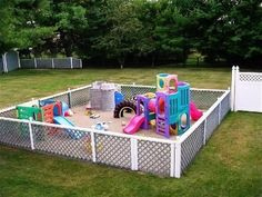 Happy Family Child Care Of Medfield (Happy Family Child Care Of Medfield) design ideas and photos - Kinderbetreuung Ideen Kids Outdoor Play, Outdoor Play Areas, Kids Play Area, Backyard For Kids, Backyard Playground, Playground Mats, Playground Ideas, Backyard Ideas, Outdoor Spaces