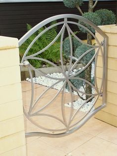 Stainless steel flower of life gate
