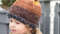 Toddler Candy Corn Hat Knitting Pattern - Gina Michele Free Knitting, Knitting Patterns, Halloween Knitting, Pumpkin Hat, Knit In The Round, Circular Needles, Garter Stitch, Brim Hat, Candy Corn