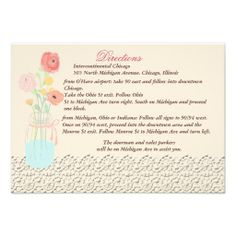 Rustic Posh in Coral Direction Cards