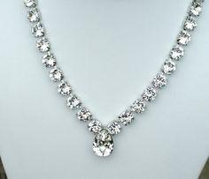 Swarovski Crystal Necklace    Designer by CathieNilsonDesigns, $80.00