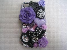 New Chic Bling Sparkle Black & Purple Fashion Elements iPhone Case Cover