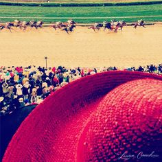 ...and they're off! {click to see more of Lauren Conrad's photos from the Kentucky Derby}