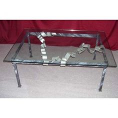 Table wrought iron. cm 80 x 115 x h 45 . 666