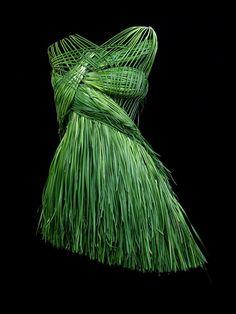 Woven grass dress - so creative!!