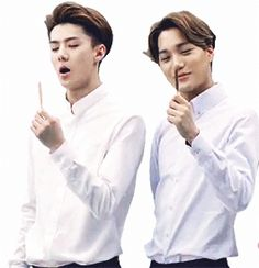 The left comedic CF and the right Sexy CF