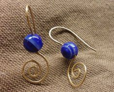Earrings of Agate and Bronze