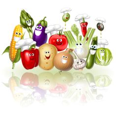 Freeze excess summer veggies in grated vegetable mixtures to use later in soups, stir-fries, omelets and a variety of other dishes. Clean Recipes, Real Food Recipes, Sauce Champagne, Fruit Clipart, Fruits And Veggies, Vegetables, Eid Crafts, Funny Fruit, Best Fruits