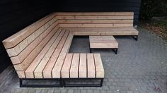 Unieke design loungebank voor in de tuin | Houtkwadraat