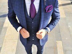 costume homme zara costard bleu violet cravate gilet 3 pièces