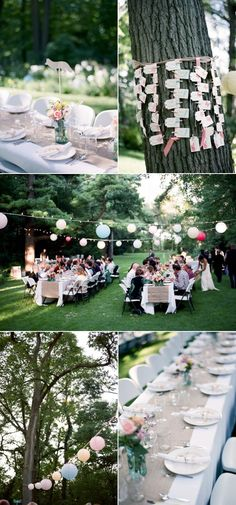 A really pretty and sweet backyard wedding. Small but beautiful, and definitely within most brides' budgets.