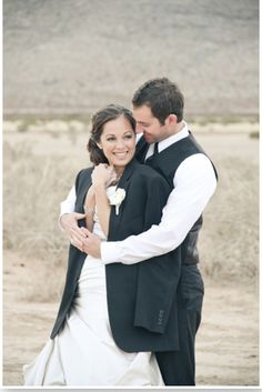 not for wedding pic, just for a winter pic idea, his jacket over her! love!