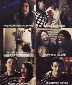 Glee girls drunk