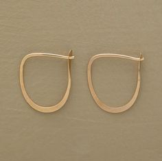 """Brushstroke Hoops by Melissa Joy Manning, made of recycled 14k gold, 3/4""""L from Sundance Catalogue $148"""
