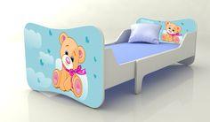 Becks rastúca posteľ Macko modrý