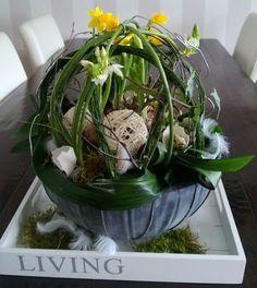 Foto galerij werkstukken Seasonal Decor, Spring Flowers, Flower Decorations, Green Beans, Cabbage, Vegetables, Plants, Coffee Tables, Diy
