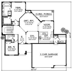 Ranch Style House Plan - 2 Beds 2 Baths 1814 Sq/Ft Plan #70-864 Floor Plan - Main Floor Plan - Houseplans.com