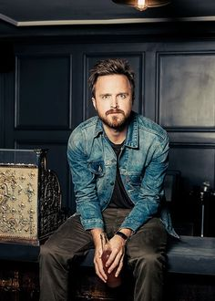 Aaron Paul in denim