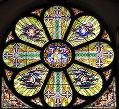 "Stained glass window ""Ave Maria"" Holy Trinity Ukrainian Catholic Church, Youngstown Ohio! Installed 1920"