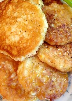 Fresh Corn FrittersFresh Corn Fritters 178 19 Kathy Novak Food and Fancies Side Recipes, Great Recipes, Favorite Recipes, Summer Recipes, Easy Recipes, Vegan Recipes, Corn Fritters, Food Dishes, Side Dishes