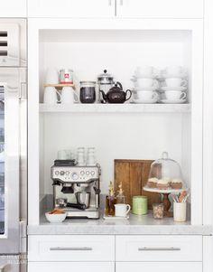 New Apartment Kitchen Bar Tea Station 67 Ideas Coffee Bars In Kitchen, Coffee Bar Home, Home Coffee Stations, New Kitchen, Kitchen Small, Drink Coffee, Kitchen Tips, Kitchen Ideas, Tea Station