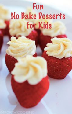 it's easy to have fun in the kitchen with the kids with no bake desserts