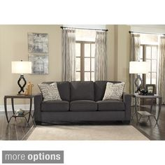 Shop for Signature Design by Ashley Alenya Charcoal Sofa and Accent Pillows. Get free shipping at Overstock.com - Your Online Furniture Outlet Store! Get 5% in rewards with Club O!