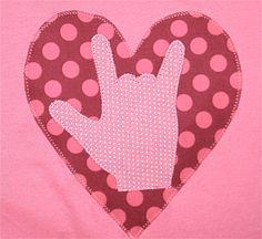 I Love You Sign Language Valentine's Shirt by noodlebugandbeanie, $22.00