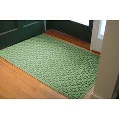 Bungalow Flooring Aqua Shield Elipse Doormat Size: 4' x 6', Color: Light Green