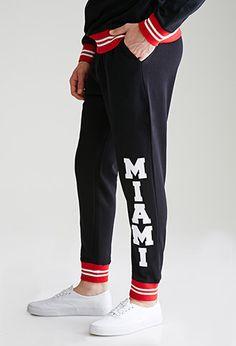 Varsity-Striped Miami Sweatpants | 21 MEN | #f21men